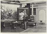 Francois Flameng in his workshop