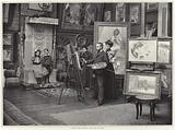 Guillaume Dubufe in his workshop