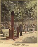 The guillotine used for the execution of Dore and Berland