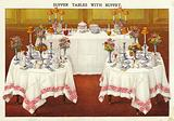 Supper tables with buffet