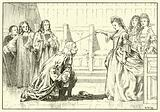 Newton knighted by Queen Anne