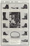 Types of soldier's boots now being made in England