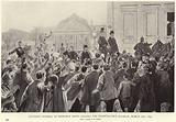 Ovation offered to Otto von Bismarck when leaving the Chancellor's mansion