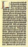 Part of a column of Gutenberg's bible
