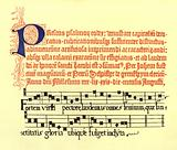 Part of a page selected from Fust and Schoeffer's second psalter