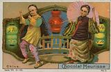 China, trade card for Chocolat Meurisse
