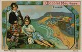 Scotland, trade card for Chocolat Meurisse
