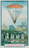 Experimenting with parachuting at Parc Monceau by Andre-Jacques Garnerin (22 Octobre 1797)