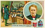 Thomas A Edison, inventor - recording a phonograph