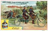 Army Corps - quick-firing English guns mounted on tricycles