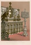 Cast Iron Altar Piece and Lectern by Barbezet and Co, Paris