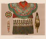 Circassian Embroidered Saddle-Cloth; Embroidered Dress, Greece; North American Indian bead and straw work