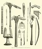 Arms and other implements of the Tahitians