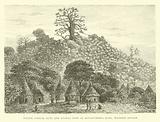 Native conical huts and Baobab tree at Kourounding Koto, Western Soudan
