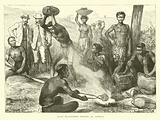 Zulu blacksmith forging an Assegai