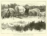 Gypsy encampment on Mitcham Common, Surrey