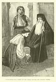 Wallachian popa, priest of the Greek Church, and peasant women