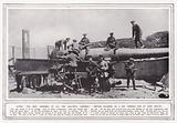 After the most terrible of all the Gallipoli landings, British soldiers on a big Turkish gun at Cape Helles