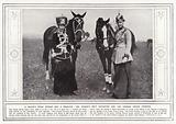 A Death's Head Hussar and a Dragoon, the Kaiser's only daughter and the German Crown Princess