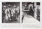 The women's right to serve demonstration, Mrs Pankhurst; and friends; The Minister of Munitions …