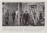 The Premier's visit to Irish rebels whose prison is protected by barbed wire, Mr Asquith leaving …