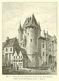 Grosse tour du Chatelet du cote de la rue de la Joaillerie; d'apres un dessin de Dunouy, 1800