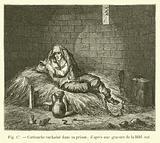 Cartouche enchaine dans sa prison; d'apres une gravure de la Bibl nat