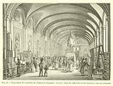 Exposition des produits de l'Industrie francaise, en 1819, dans les salles du rez-de-chaussee, sous la colonnade