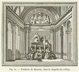 Tombeau de Mazarin, dans la chapelle du college