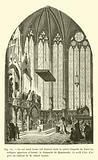 Le roi saint Louis fait deposer dans la sainte Chapelle de Paris les reliques apportees d'Orient …