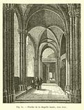 Porche de la chapelle haute, vers 1840