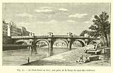 Le Pont-Neuf en 1845, vue prise de la berge du quai des Orfevres
