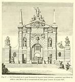 Arc triomphal sur le pont dormant de la porte Saint-Antoine, commence sous Henri II …