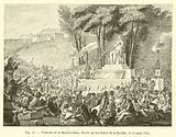 Fontaine de la Regeneration, elevee sur les debris de la Bastille, le 10 aout 1792