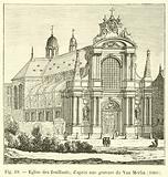 Eglise des feuillants; d'apres une gravure de Van Merlin, 1660