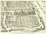 Le palais et le jardin des Tuileries en 1615, Fac-simile du plan de Mathieu Merian