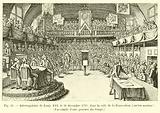 Interrogatoire de Louis XVI, le 26 decembre 1792, dans la salle de la Convention, ancien manege …