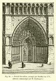 Portail du milieu, arrange par Soufflot en 1771, Dessin communique par M Boulanger
