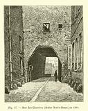 Rue des Chantres, cloitre Notre-Dame, en 1820