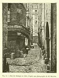 Rue de Glatigny en 1865; d'apres une photographie de M Marville