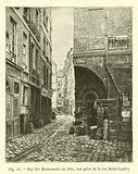 Rue des Marmousets en 1865, vue prise de la rue Saint-Landry