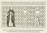 Effigie des sergents d'armes de Philippe-Auguste qui gardaient le pont de Bouvines …