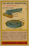 Beautiful inventions card, rail lines