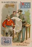 Cie des Caves Generales trade card, postal