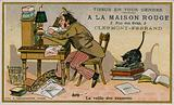 La Maison Rouge trade card, the eve of the exams