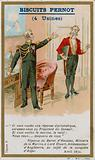 Trade card issued with Biscuits Pernot