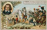 Trade card with an image depicting the Battle of Wagram