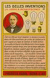 Beautiful inventions card, lightbulbs