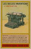 Beautiful inventions card, typewriter
