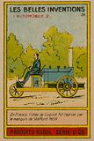 Beautiful inventions card, automobile